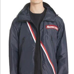 NWT Moncler Trakehner Logo Stripe Hooded Jacket
